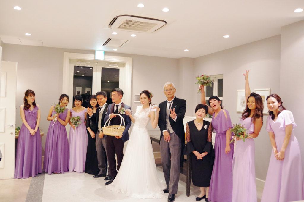 ブライズメイドドレス L710 ロングドレス 紫 パープル ラベンダー