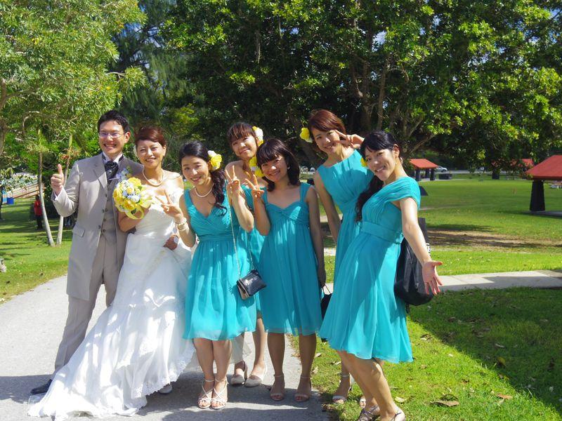 ブライズメイド グアム 結婚式 2015