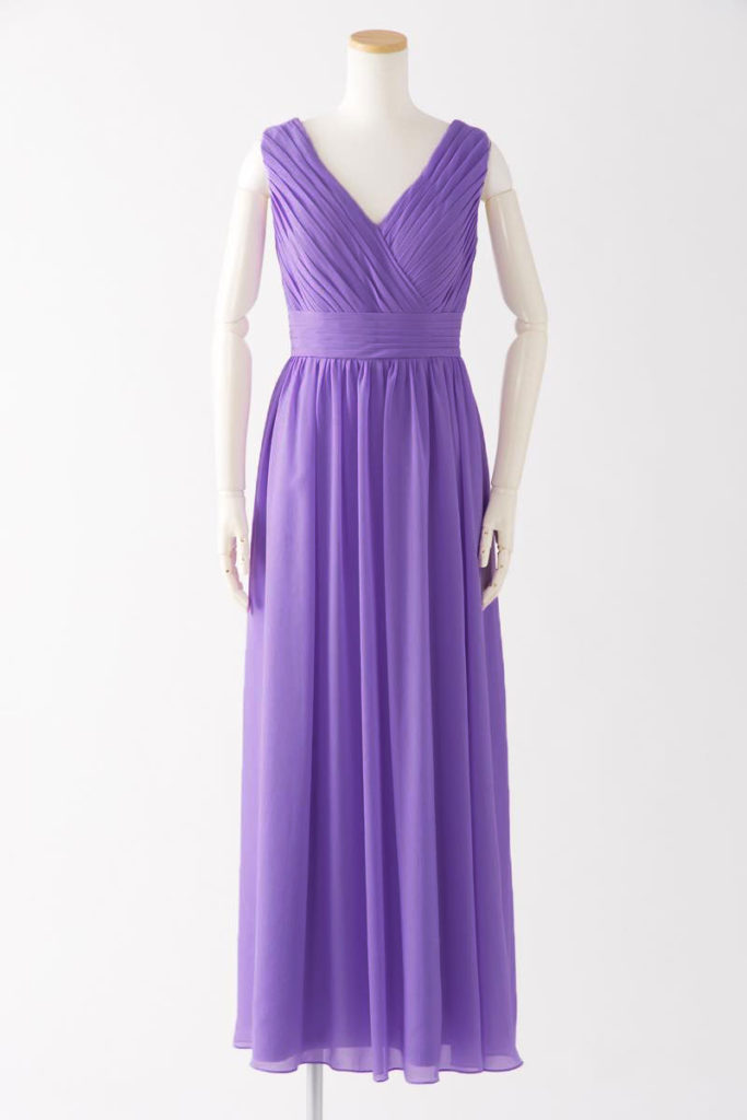 ブライズメイドドレス L613 ロングドレス 紫 パープル ラベンダー