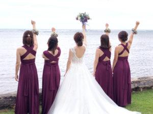 オーバジン ブライズメイド ドレス 結婚式 ハワイ